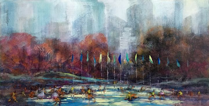 Wollman Rink Central Park New York - New York Art Collection | Hall Groat Sr. & II