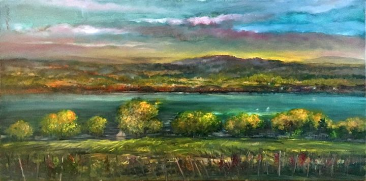 Seneca Lake Wine Country - New York Art Collection | Hall Groat Sr. & II