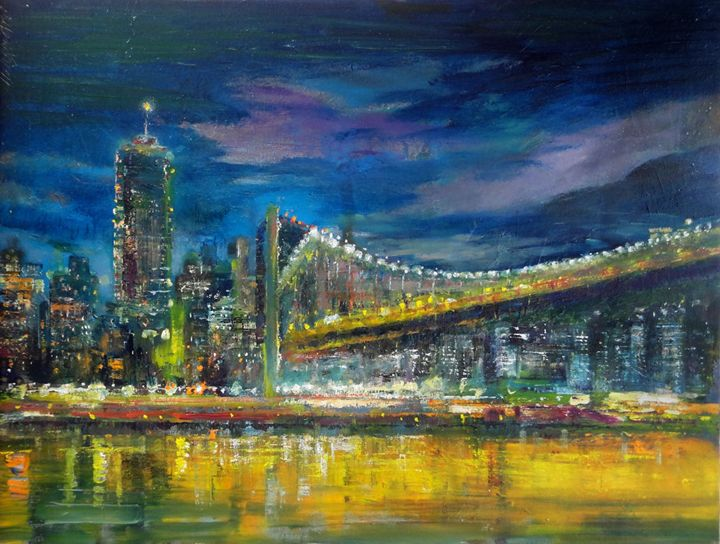 Manhattan Bridge, New York City - New York Art Collection | Hall Groat Sr. & II