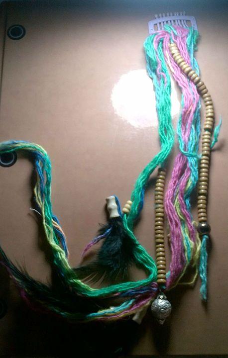 Rainbow Hippie Hair Extension - Fletcher's Fantasy Art and Accessories