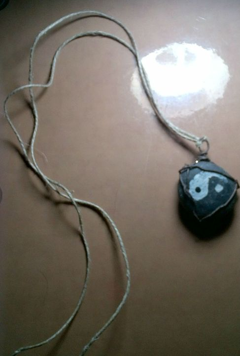 Yin and Yang Stone Necklace - Fletcher's Fantasy Art and Accessories
