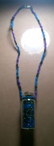 Vial Necklace- purple, black, blue