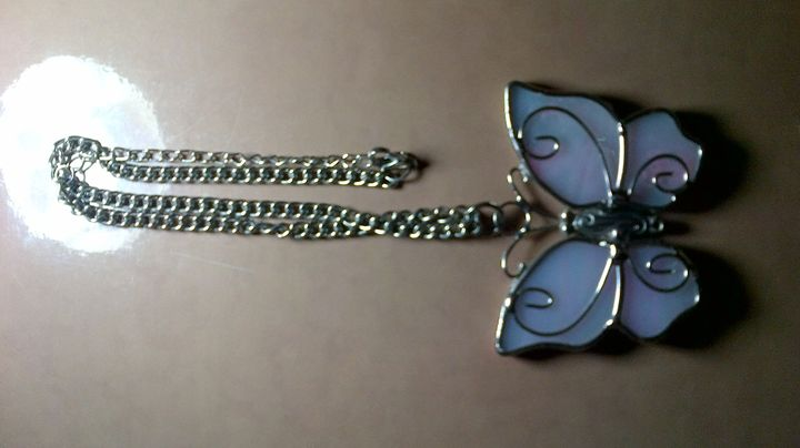 Light Pink Silver Butterfly - Fletcher's Fantasy Art and Accessories