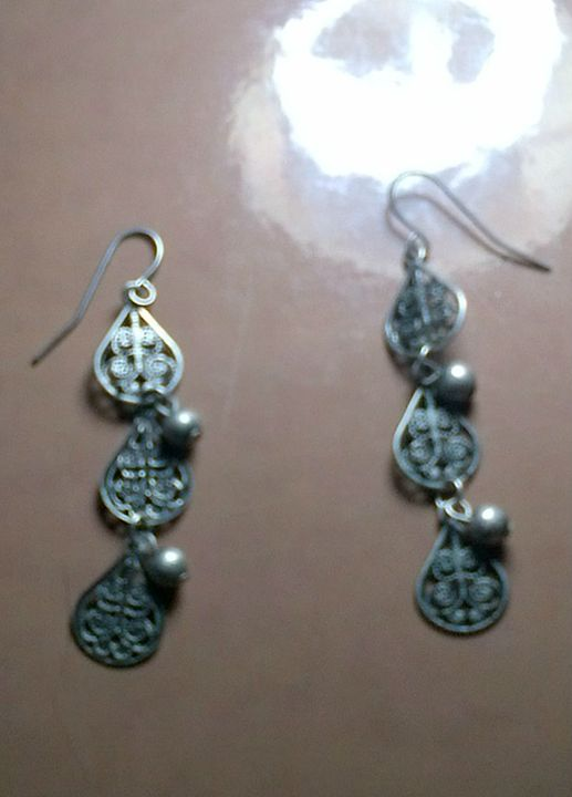 Silver Dangle Earrings - Fletcher's Fantasy Art and Accessories