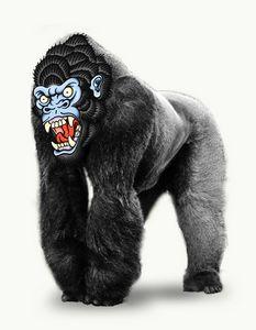 Traditional Gorilla Face