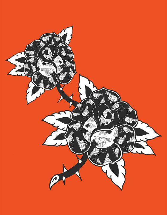 Guns and Roses - Tyler Genovese Art