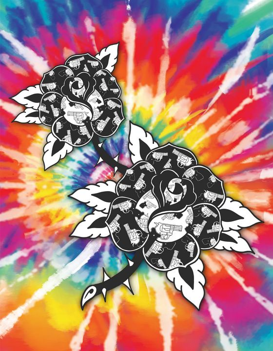 Guns n' roses TieDye - Tyler Genovese Art