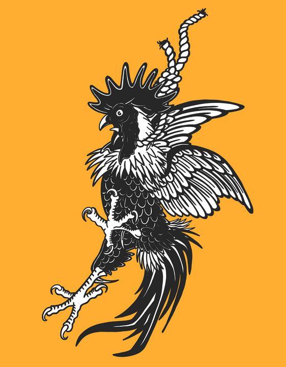 Hanging Rooster - Tyler Genovese Art