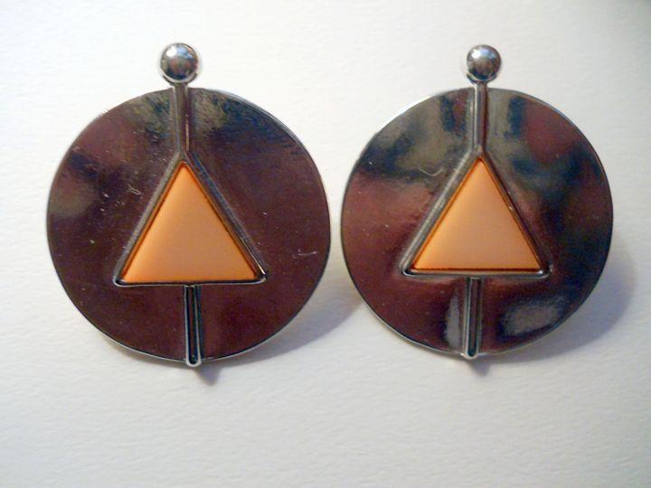 Geometric Round Silver Earrings - Choose Yourself