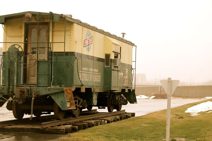 Train on a Foggy Day - Kate's Photography