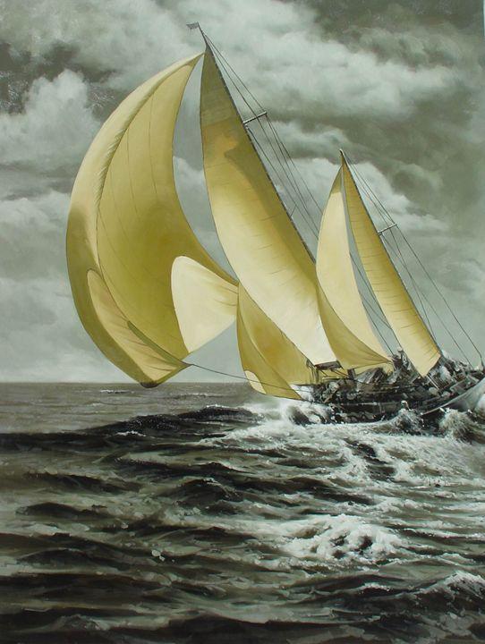 Sailing In Los Angeles Regatta - Lucia Amitra
