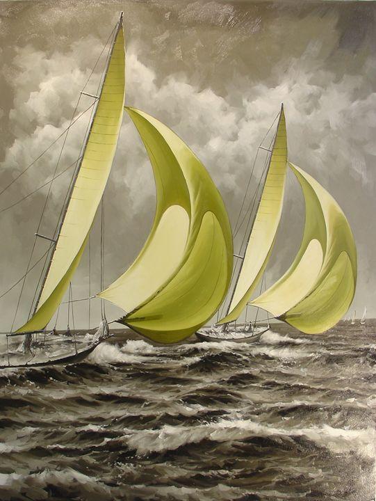 Thebaud Under Full Sail - Lucia Amitra