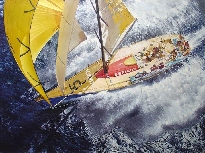 Yellow Racing Yacht - Lucia Amitra
