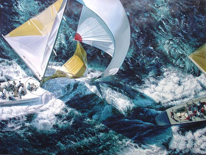 Yachts Racing On The Great Lakes - Lucia Amitra