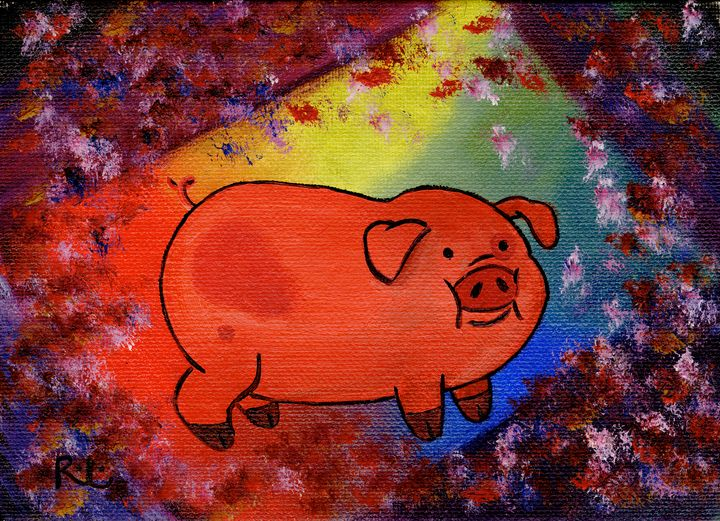 Small Red Pig - Rolo