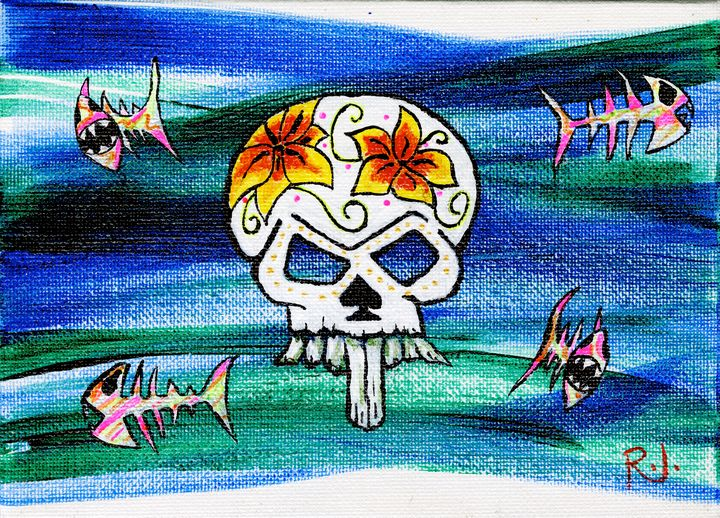 Small Skull and Fish - Rolo