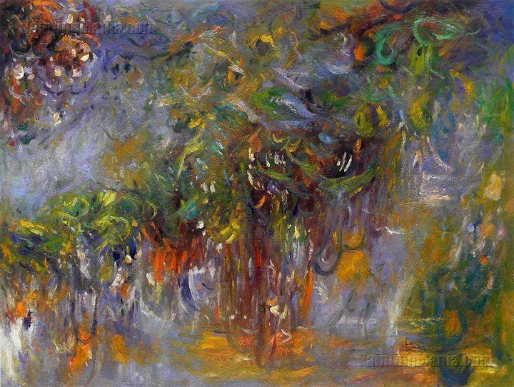Wisteria (right half) Monet painting - PaintingMania