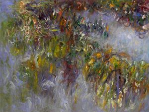 Wisteria (left half) Monet Painting
