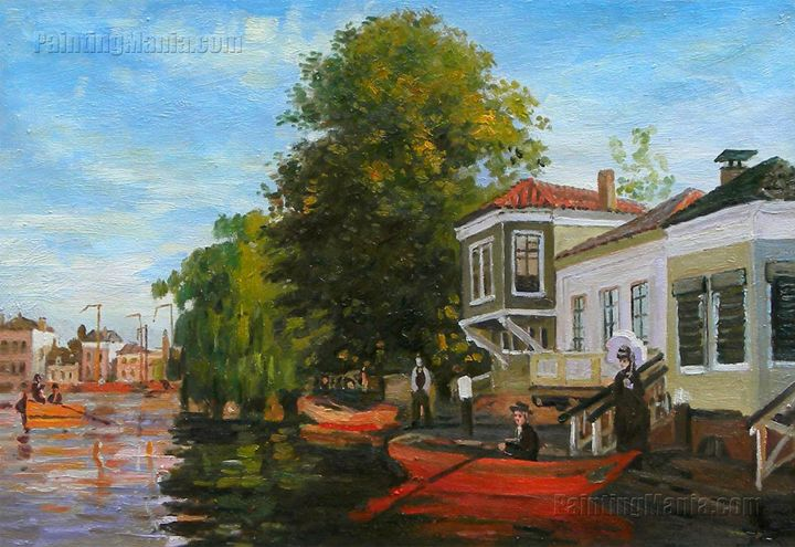 The Zaan at Zaandam Monet art - PaintingMania