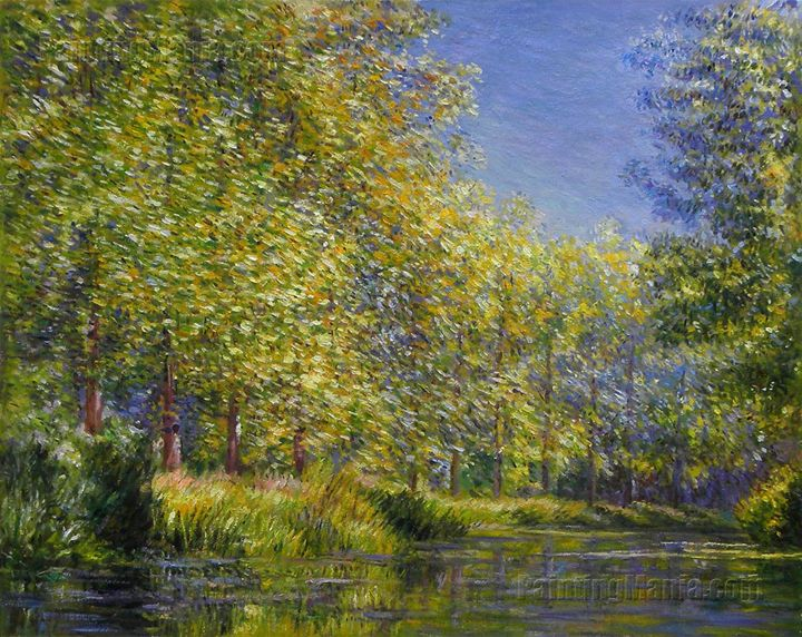 Bend in the Epte River near Giverny - PaintingMania