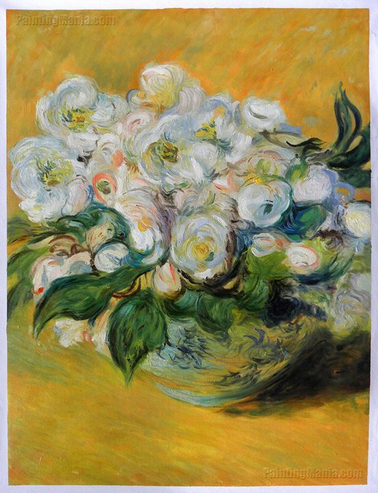 Christmas Roses Monet Oil Painting - PaintingMania