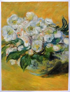 Christmas Roses Monet Oil Painting