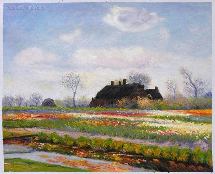 Tulip Fields at Sassenheim Monet art - PaintingMania