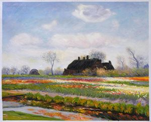 Tulip Fields at Sassenheim Monet art