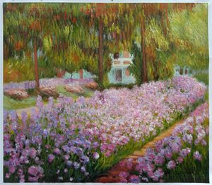 Irises in Monet's Garden Monet Arts