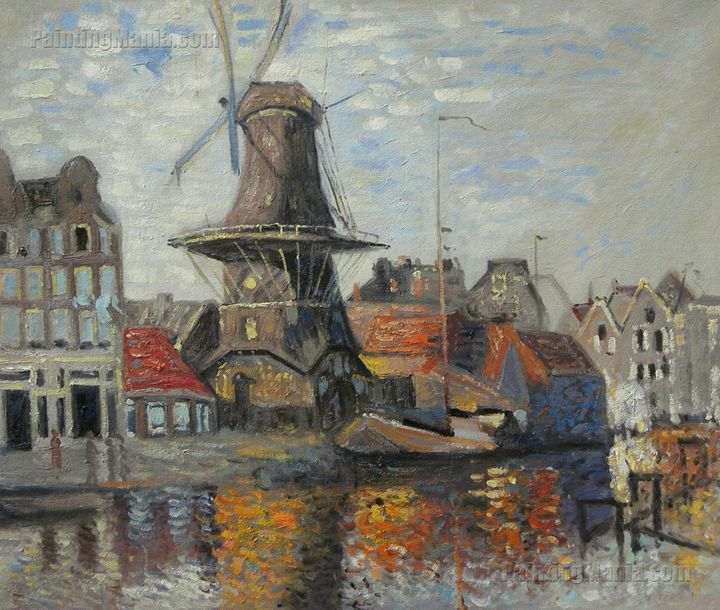 The Windmill on the Onbekende Canal - PaintingMania
