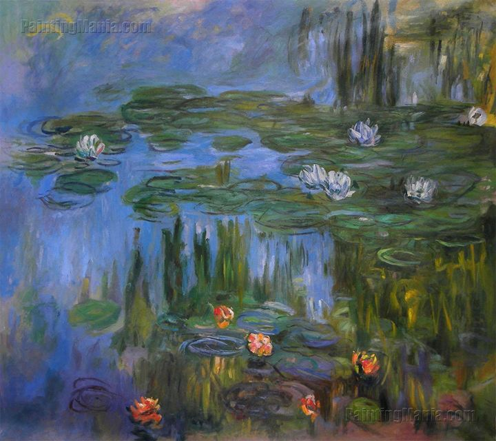 Water Lilies 1914-5, Monet Painting - PaintingMania