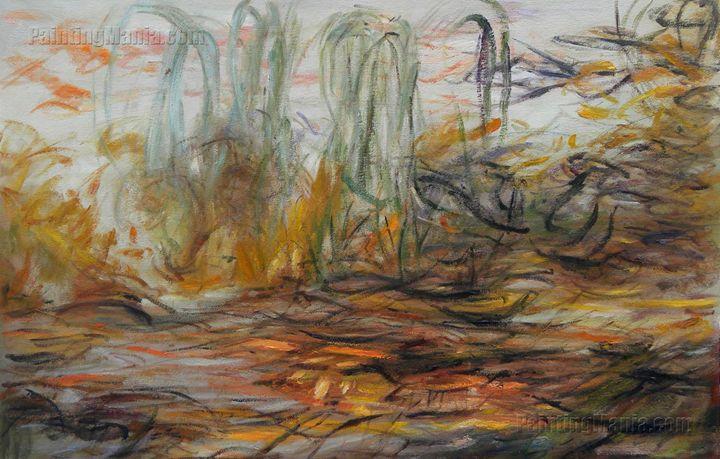 Water-Lilies (left half):Monet art - PaintingMania