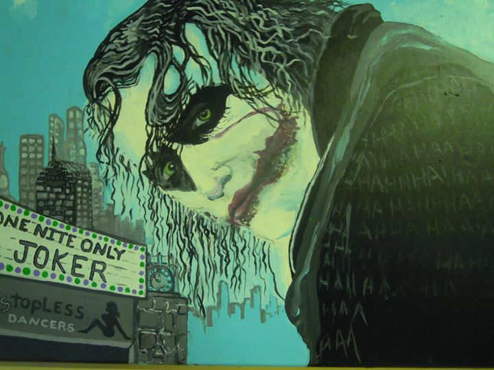 The Joker Original Acrylic Painting - Murphy Art & Soul