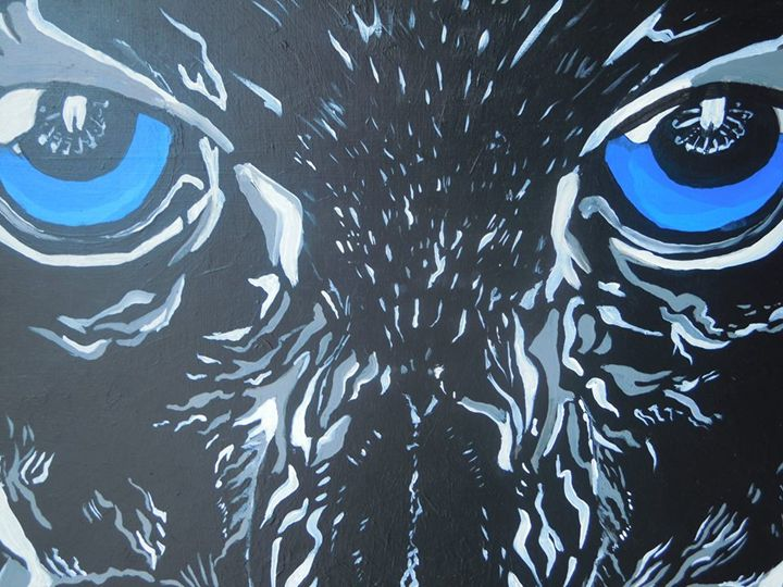 Black Panther Acrylic Painting - Murphy Art & Soul