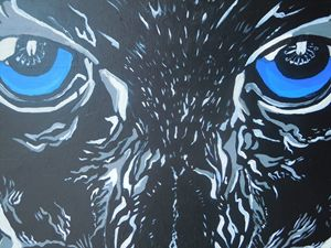 Black Panther Acrylic Painting