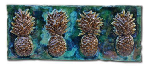 Pineapples Kitchen Back-Splash - Ceramic Designs by Albert