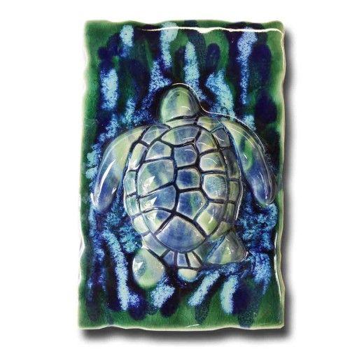 Hawaiian Sea Turtle Wall Plaque - Ceramic Designs by Albert
