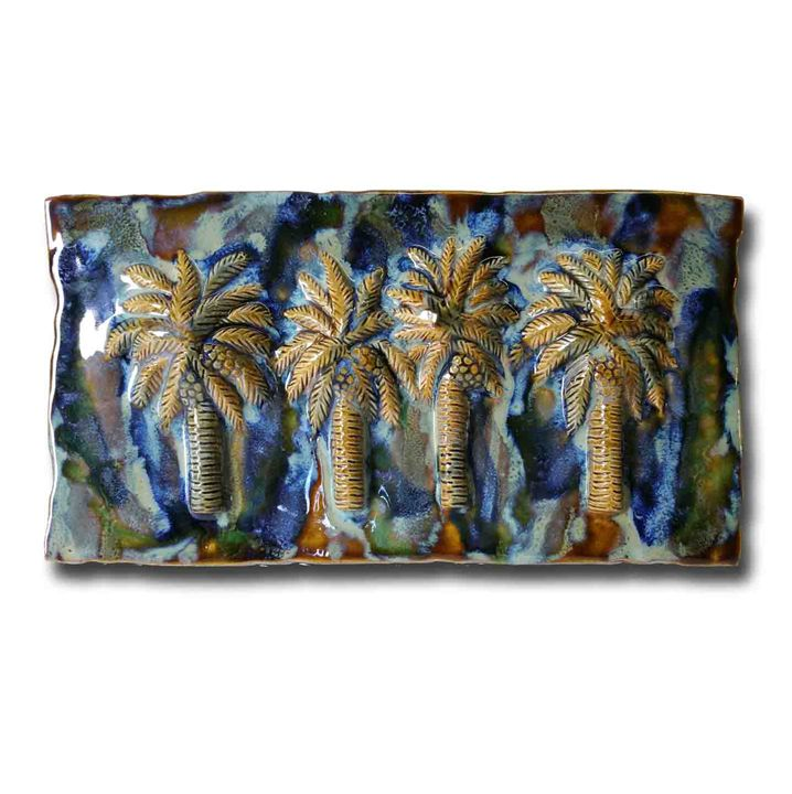 Palm Tree Tiles, Palm Tree Backsplas - Ceramic Designs by Albert