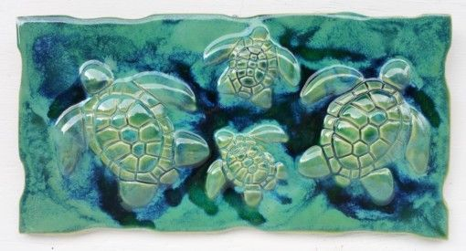 Wall Hanging Art Turtle Design - Ceramic Designs by Albert