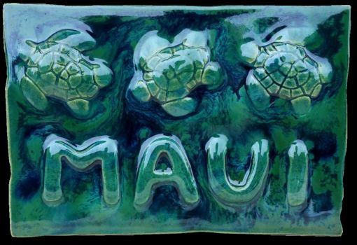 Plaque with Three Turtles - Ceramic Designs by Albert