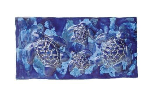 Wall Hanging Art Turtle Design - Ceramic Designs by Albert