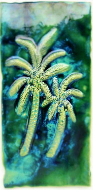 Wall Art Palm Trees Design - Ceramic Designs by Albert
