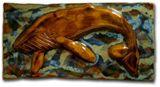 Brown Ceramic Whale