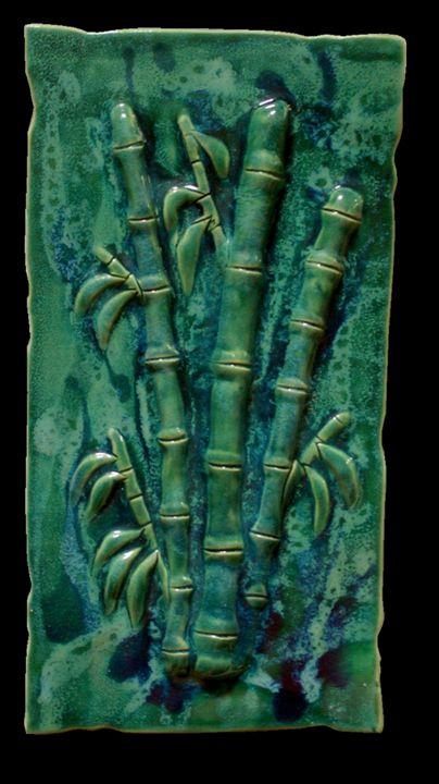 Kitchen Back-Splash with Bamboo - Ceramic Designs by Albert