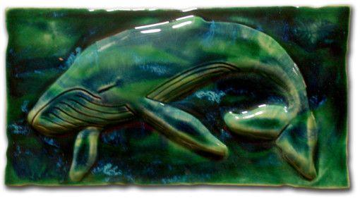 Ceramic Wall Art Maui Humpback Whale - Ceramic Designs by Albert