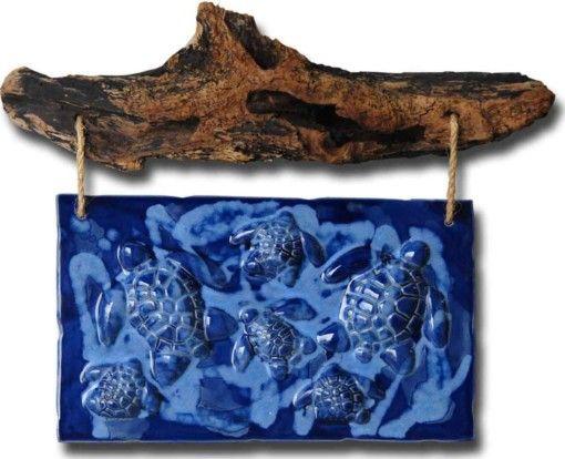 Turtle Wall Hanging Art - Ceramic Designs by Albert