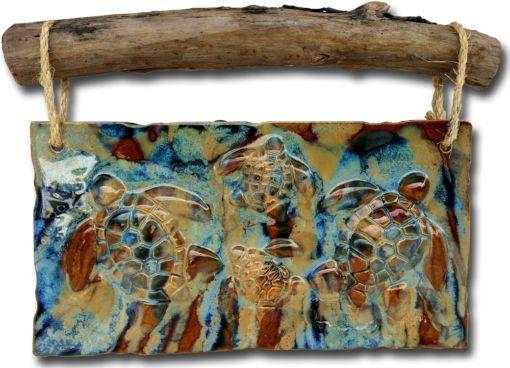Ohana Turtles Wall Hanging - Ceramic Designs by Albert