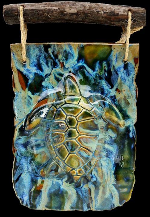 Turtle Wall Art Hanging - Ceramic Designs by Albert