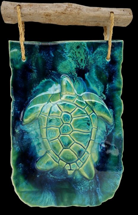 Turtle Wall Hanging - Ceramic Designs by Albert