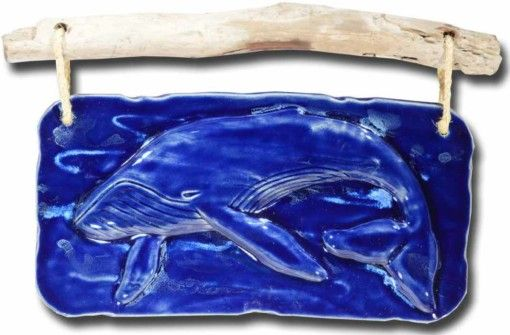 Whale Wall Hanging - Ceramic Designs by Albert